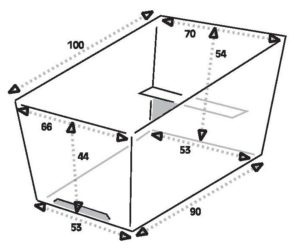 Bakfiets trike size box