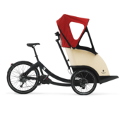 triobike taxi mid drive black deore9 unfolded hood side